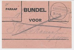 Treinblokstempel : Leeuwarden - Groningen V 1948 - Ohne Zuordnung