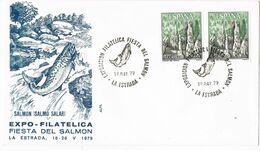37647.  Carta LA ESTRADA (Pontevedra) 1979. Exposicion , Fiesta Del SALMON, Fish - 1931-Aujourd'hui: II. République - ....Juan Carlos I