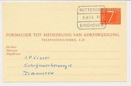 Treinblokstempel : Rotterdam - Eindhoven XII 1964 - Ohne Zuordnung