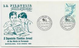 3552   Carta  Expo. Juvenil, San Martin De Provensal 1969 , Barcelona - 1931-Aujourd'hui: II. République - ....Juan Carlos I