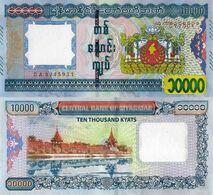 MYANNMAR, 10000 KYATs, 2015, P84, UNC - Myanmar