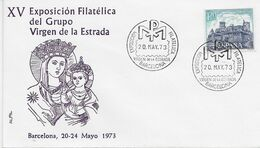 3552   Carta  Expo. Barcelona 1973 Virgen De La Estrada - 1931-Aujourd'hui: II. République - ....Juan Carlos I