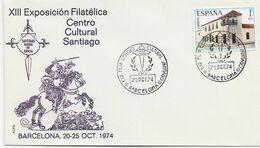 3552   Carta  Expo. Barcelona 1973  Centro Cultural Santiago - 1971-80 Storia Postale