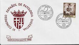 3552   Carta  Barcelona  Xl Congreso Español De Patología Digestiva, 1968 - 1931-Aujourd'hui: II. République - ....Juan Carlos I