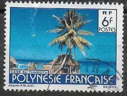 POLINESIA FRANCESE - 1979 - PAESAGGIO -INC. DELRIEU - USATO (YVERT 137 - MICHEL 283IA) - Polinesia Francese