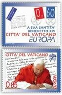 Vatican 1454/55 Europa, L'écriture, Pape Benoit XVI - Europa-CEPT
