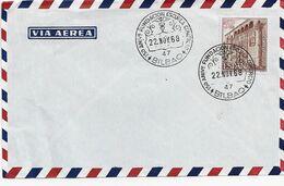 3552   Carta  Aérea Bilbao 1968,   150 Aniversario De La Fundación Escuela  Comercio. - 1931-Aujourd'hui: II. République - ....Juan Carlos I
