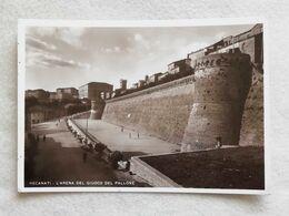 Cartolina Illustrata Recanati - L'Arena Del Giuoco Del Pallone, Non Viaggiata - Andere Städte
