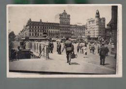 CP - Belg. - Bruxelles - Hôtel Cosmopolite - Soldats - Carte Photo Non Datée - Cafés, Hotels, Restaurants