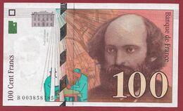 "100 Francs ""Cézanne"" 1997--SUP----ALPH.B ---Numéro.003858185 - 1992-2000 Ultima Gama"