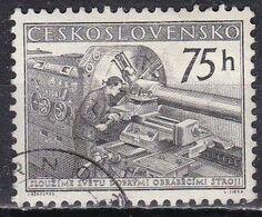 Cecoslovacchia, 1955 - 75h Lathe Operator - Nr.687 Usato° - Czechoslovakia
