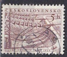 Cecoslovacchia, 1956 - 5h Hydroelectric Plant - Nr.731 Usato° - Czechoslovakia