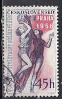 Cecoslovacchia, 1956 - 45h Girl Basketball - Nr.748 Usato° - Czechoslovakia
