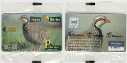 Fauna Ibérica, Edición Privada, PERDÍZ ROJA, Mintage 10.000 Ex, Nueva, Precintada # P-381 - Phonecards