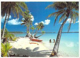 Polynésie Française Plage De Rêve De Tahiti Et Ses îles  (pirogue Arbres Trees  ) @ (T.Sylvain  Tahiti 1305 )* PRIX FIXE - Polynésie Française