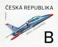 Czech Republic - 2020 - Czech Aviation - Aero L-39 Albatross Plane - Mint Self-adhesive Stamp - Nuovi