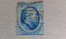 PAYS-BAS ROYAUME. 1864. Dentelés  N°4 Oblitéré  5c  Bleu .Catalogue YetT. - Gebraucht