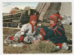 Norway Norge Norvège N°1554.3 Samebarn Lapp Children En 1970 - Noruega