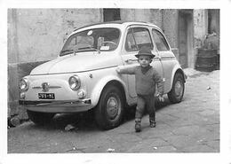"""1441 """"foto-AUTO FIAT 500 Con Piccolo Ammiratore """" ME 47879 FOTO. ORIG."""" - Auto's"""