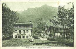 "9100 "" CANTOIRA (alt. M. 750)-FRAZIONE CHIESA""-CARTOLINA POSTALE ORIGINALE SPEDITA 1936 - Italien"