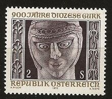 Autriche Österreich 1972 N° 1216 ** Diocèse, Gurk, Église Catholique, Grossglockner, Cathédrale Saint-Pierre, Sculpture - 1971-80 Ungebraucht