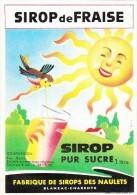 ETIQUETTE NEUVE SIROP FRAISE TYPE I NAULETS BLANZAC CHARENTE IMPRIMERIE LAFON - Labels