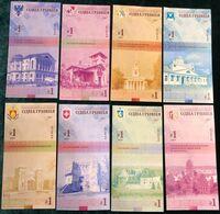 Ukraine - Set 27 Banknotes 1 Hryvna 2020 UNC Regions Of Ukraine With Watermarks Souvenir Lemberg-Zp - Oekraïne