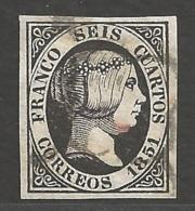 Spanien Michel Nummer 6 Gestempelt - 1850-68 Kingdom: Isabella II