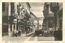 "9107 "" BRA-VIA VITTORIO EMANUELE II "" ANIMATA-CARTOLINA POSTALE ORIGINALE SPEDITA 1938 - Cuneo"