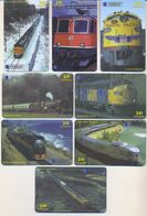 Chile, TRAINS, 8 Prepaid Calling Cards 20 Units, PROBABLY FAKE, # 8chisat - Treni