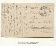 REF1822/ CP Friemersheim En S.M. C.PMB-BLP 21/2/19 + Griffe Bleyberg(Montzen) > Henri Chapelle - Marcophilie