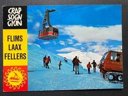 Craps Sogn Gion Bei Laax Skigebiet Mit Luftseilbahn Und Pistenfahrzeug - GR Graubünden