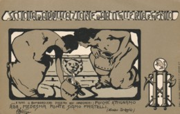 CARTOLINA VIAGGIATA 1914 SCUOLA APPLICAZIONE ARTIGLIERIA E GENIO (KP976 - Régiments
