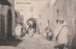 CARTOLINA  VIAGGIATA SCHIARA EL HALGA LIBIA COLONIE ITALIANE 1913 (KP984 - Libië