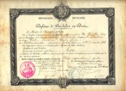 Diplome De Bachelier En Droit International Poitiers 1909 - Diplome Und Schulzeugnisse