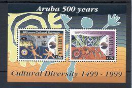 ARUBA * 1999 * M/Sheet (2 Stamps) * MNH** Cultural Diversity Anniversary - Mi.No BL2 - America (Other)