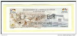 VIGNETTE LISA 2 - DECLENCHEMENT DE LA BATAILLE DE VERDUN - 21 FEVRIER 1916 - MENTION LP 0,80 EUR - NEUF - 2010-... Illustrated Franking Labels
