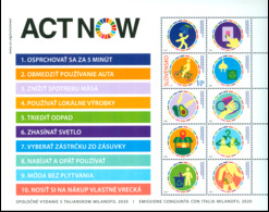 Slovakia - 2020 - Milanofil 2020 - ACT NOW - Joint Issue With Italy - Mint Stamp Sheetlet - Slowakische Republik