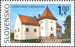 Slovakia - 2020 - Beauties Of Our Homeland - The Water Castle Of Simonovany - Mint Stamp - Slowakische Republik
