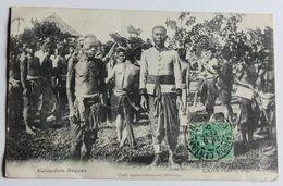 CPA Asie Laos Ethnie Chefs Soumissionnaires Bolovens Collection Raquez 1909 M. Lefebvre Café De La Poste Sevran - Laos