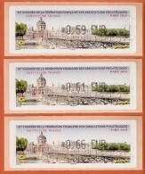 VIGNETTE LISA 1 - SALON TIMBRES PARIS 2014 - INSTITUT DE FRANCE - LOT DE 3 VALEURS 0.59  0.61  0.66 - NEUF - 2010-... Illustrated Franking Labels