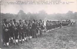 EVENEMENT ( Militaria ) PARIS Revue Du 14 Juillet 1913 à LONGCHAMP Délégation Du 1er Régiment Sénégalais ... - CPA - - Andere