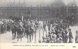 EVENEMENT Enterrement Funérailles - Obsèques Du Général GALLIENI (1 Juin 1916) Départ Des Invalides - CPA - - Begrafenis