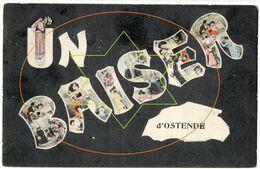 Souvenir - Un Bonjour - Humor - Groeten - Amities - Cartoon - Une Pence - Oostende - Ostende - Oostende