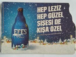 Beer Mat/coaster EFES - CHRISTMAS / NEW YEAR'S THEME - Beer Mats