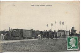 La Gare Des Tramways à Fillé (Sarthe), Carte Postale Ancienne - Altri Comuni