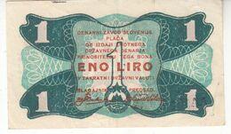 5998  SNOS  Denarni Zavod Slovenije 1 Lira 1944 - Slovenië