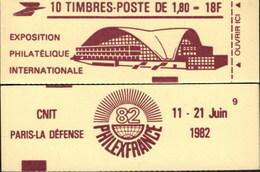"""CARNET 2220-C 3 Liberté De Delacroix """"PHILEXFRANCE 82"""" Chocolat, Fermé, Parfait état Bas Prix RARE - Usage Courant"""