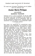 Soeur, Zuster, 1988, O.L. Vrouw Lombeek, Wetteren, Blondina Tielemans - Andachtsbilder