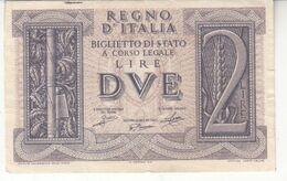 5998    ITALIA  2  LIRE  1939 - [ 1] …-1946 : Regno